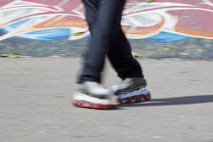 Rollerblades skater Royalty Free Stock Photo