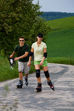 Rollerblades for two 3 Royalty Free Stock Image