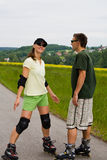 Rollerblades for two Stock Photography