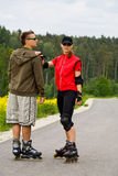 Rollerblades for two Royalty Free Stock Photography