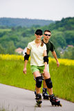Rollerblades for two Stock Photos