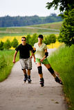 Rollerblades for two Stock Images