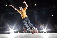 rollerblading的竞争 图库摄影