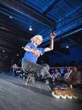 rollerblading的竞争 库存图片