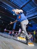 Rollerblading竞争 库存照片