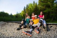 Rollerblading Stock Photo
