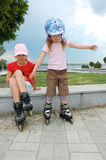 Rollerblading Royalty Free Stock Image