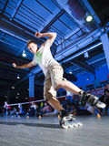 Rollerblading competition Stock Image