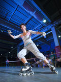 Rollerblading competition Stock Photography