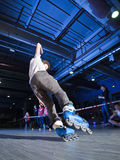 Rollerblading competition Stock Images