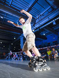 Rollerblading competition Royalty Free Stock Photo