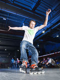 Rollerblading competition Stock Photo