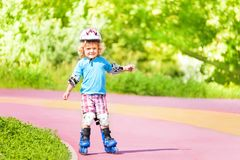 Rollerblading downhill Stock Photography