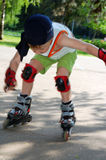Rollerblading. Falling down. Royalty Free Stock Photo