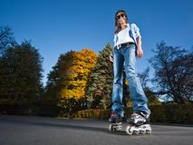 Rollerblading girl Stock Photos