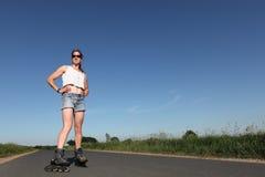 Rollerblading Kobieta zdjęcie royalty free