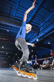 Rollerblading konkurrens Arkivfoto