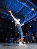 Rollerblading konkurrens Arkivbilder