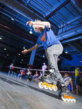 Rollerblading konkurrens Arkivfoton