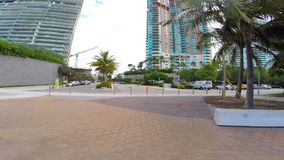 Rollerblading in Miami Beach stock video footage