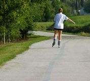 Rollerblading para o exercício Foto de Stock