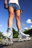 Rollerblading / Roller skating Stock Image