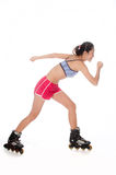 Rollerblading Woman Royalty Free Stock Photography