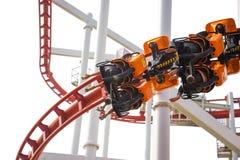 Rollercoaster γύρος διασκέδασης Στοκ εικόνες με δικαίωμα ελεύθερης χρήσης