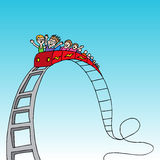 Rollercoaster γύρος Στοκ Εικόνα