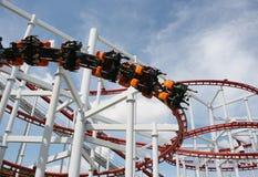 Rollercoaster γύρος Στοκ Φωτογραφία