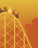 rollercoaster γύρου Στοκ Εικόνες