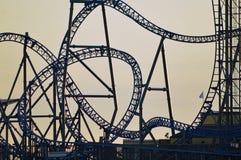Rollercoaster σκιαγραφία Στοκ Εικόνα
