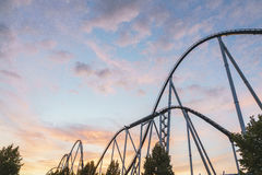 Rollercoaster στο πάρκο της Ευρώπης Στοκ Εικόνες