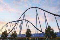 Rollercoaster στο πάρκο της Ευρώπης Στοκ εικόνες με δικαίωμα ελεύθερης χρήσης