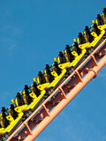 Rollercoaster. A rollercoaster at a theme park in USA stock images
