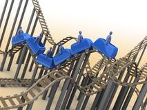rollercoaster 3d Fotografering för Bildbyråer