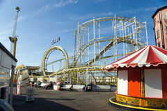 Rollercoaster. The small rollercoaster at pier Royalty Free Stock Image
