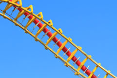 Rollercoaster (against blue sky) Royalty Free Stock Images