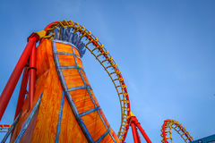 Rollercoaster. In an amusement park Stock Photography