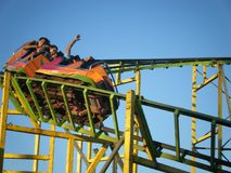Rollercoaster at amusement park in Nicaragua royalty free stock photo