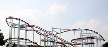 A rollercoaster in an amusement park Royalty Free Stock Photo