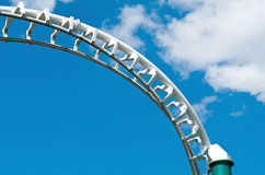 Rollercoaster barrier Royalty Free Stock Photo
