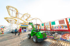 Rollercoaster at the Brighton Pier Stock Photos