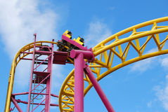 Rollercoaster. Colorful entertainment rollercoaster at Southend-on-Sea Royalty Free Stock Photo
