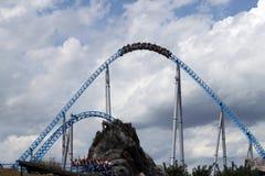 Rollercoaster in Europapark Stock Image