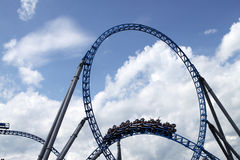 Rollercoaster in Europapark Stock Photography