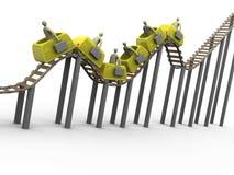 rollercoaster för 2 affär Royaltyfria Foton