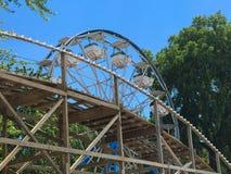 Rollercoaster Ferris Wheel Lake Okoboji Stock Photos