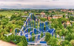 Rollercoaster Inside Gardaland Amusement Park, Near Lake Garda, Stock Photography