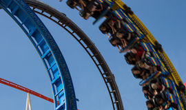 Rollercoaster in a looping Royalty Free Stock Image